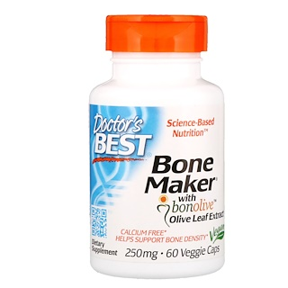 Doctor's Best, Bone Maker with Bonolive Olive Leaf Extract, 250 mg, 60 Veggie Caps
