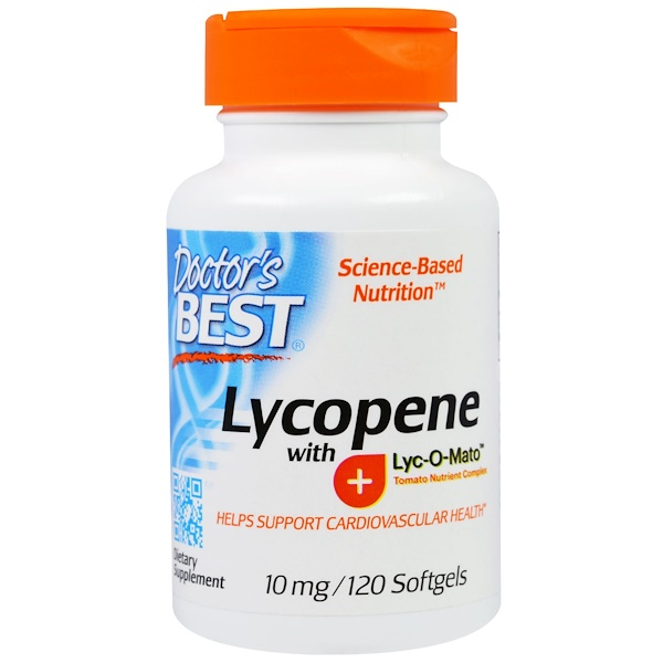 Doctor's Best, Lycopene with Lyc-O-Mato, 10 mg, 120 Softgels (Discontinued Item)