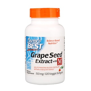Doctor's Best, خلاصة بذور العنب مع MegaNatural-BP، مقدار 150 ملغ، 120 كبسولة نباتية رخوة