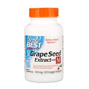 Докторс Бэст, Grape Seed Extract with MegaNatural-BP, 150 mg, 120 Veggie Softgels отзывы