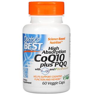 Doctor's Best, коэнзимQ10, 100мг, пирролохинолинхинон, 20мг, 60растительных капсул