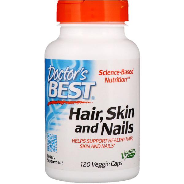 Doctor's Best, Волосы, кожа и ногти, 120 вегетарианских капсул (Discontinued Item)