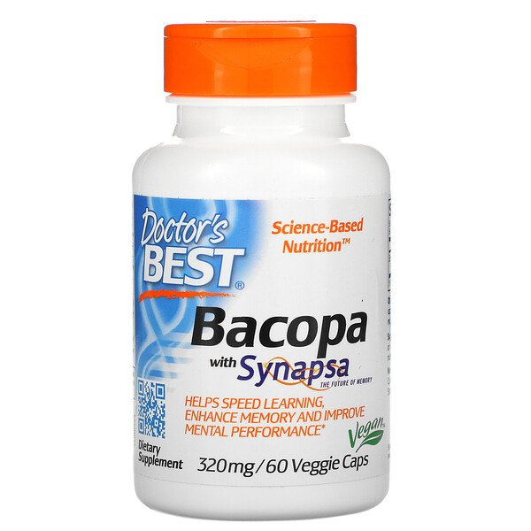 Doctor's Best, Bacopa with Synapsa, 320 mg, 60 Veggie Caps