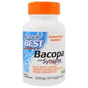 Doctor's Best, Бакопа с Синапсой, 320 мг, 60 Растительных Капсул