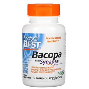 Докторс Бэст, Bacopa with Synapsa, 320 mg, 60 Veggie Caps отзывы покупателей