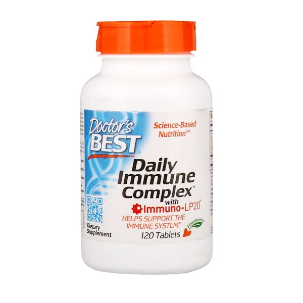 Doctor's Best, Daily Immune Complex with Immuno-LP20, 120 Tablets (Discontinued Item)