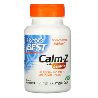 Doctor's Best, Calm-Z with Zembrin, 25 mg, 60 Veggie Caps