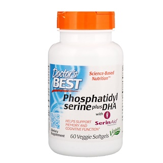 Doctor's Best, Phosphatidylserine Plus DHA, 60 Veggie Softgels