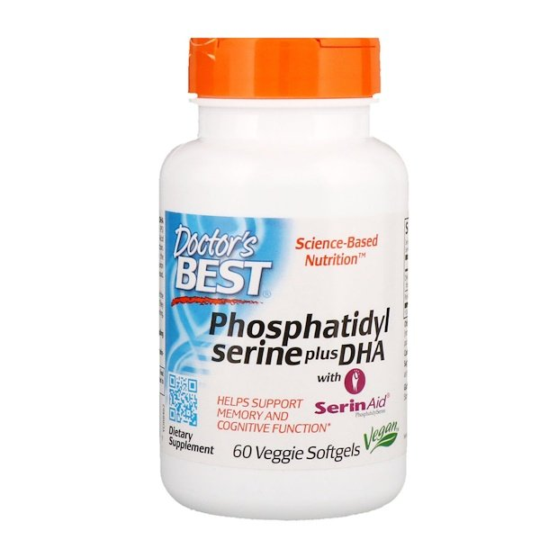 Doctor's Best, Phosphatidylserine Plus DHA, 60 Veggie Softgels (Discontinued Item)