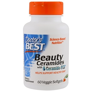 Doctor's Best, Beauty Ceramides with Ceramide-PCD, 60 Veggie Caps