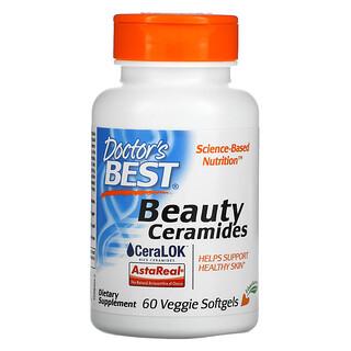 Doctor's Best, Ceramidas para la belleza, 60cápsulas blandas vegetales