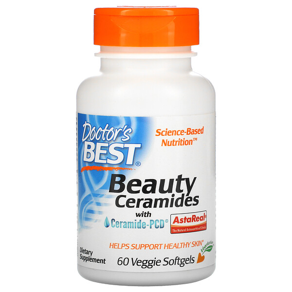 Doctor's Best, Beauty Ceramides with Ceramide-PCD, 60 Veggie Softgels