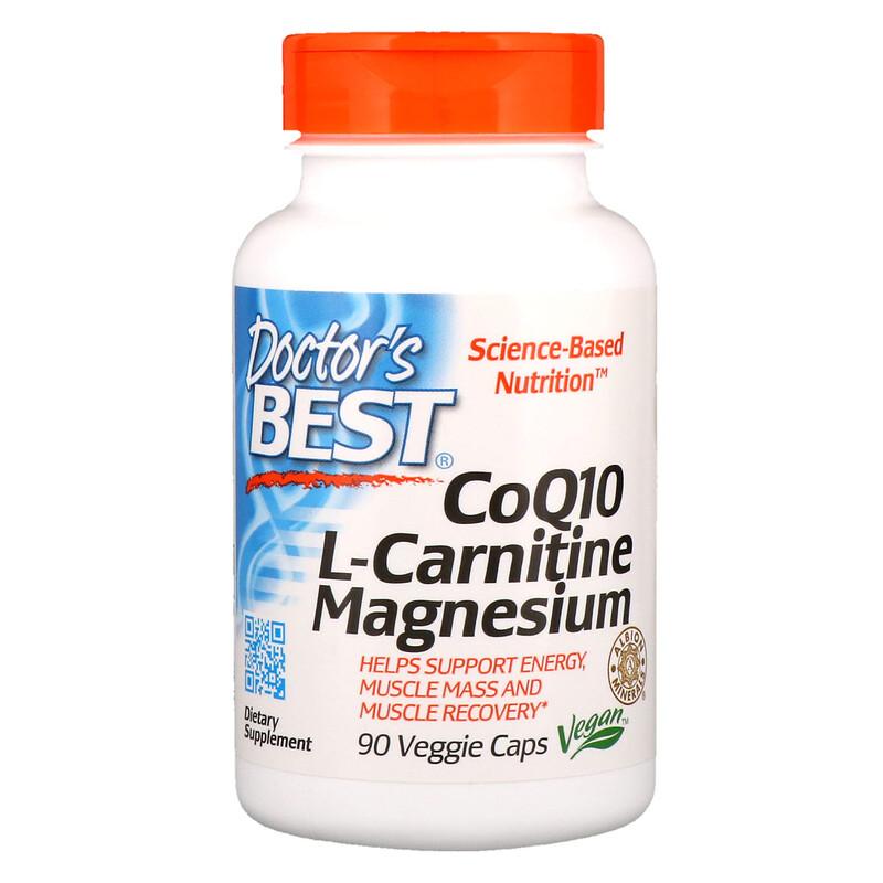 CoQ10 L-Carnitine Magnesium, 90 Veggie Caps