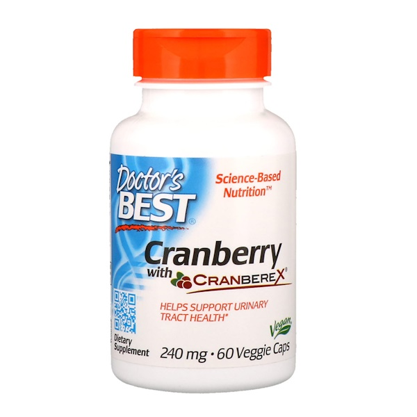 Doctor's Best, Cranberry with Cranberex, 240 mg, 60 Veggie Caps (Discontinued Item)