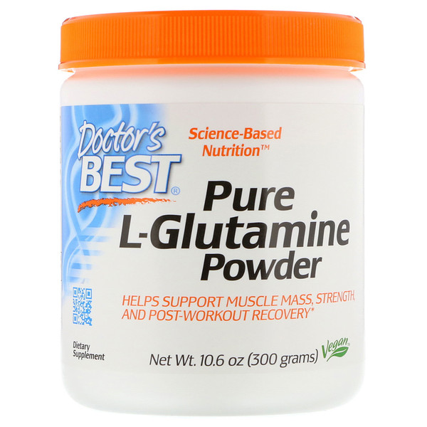 Doctor's Best, Poudre de L-glutamine pure, 300 g (10,6 oz)
