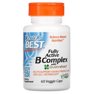 Doctor's Best, Fully Active B Complex with Quatrefolic, 60 Veggie Caps