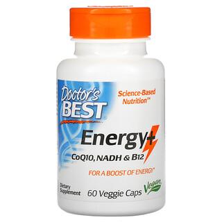 Doctor's Best, Energy+ CoQ10, NADH и B12, 60вегетарианских капсул