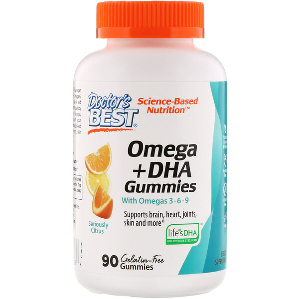 Doctor's Best, Omega 3 + DHA, Seriously Citrus, 90 Gummies