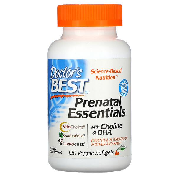 Prenatal Essentials مع الكولين وحمض الدوكوزاهيكسنويك، 120 كبسولة نباتية هلامية