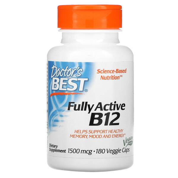 Fully Active B12, 1,500 mcg, 180 Veggie Caps
