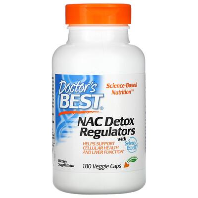 Doctor's Best N-ацетилцистеин (NAC) для регуляции процесса детоксикации, 180растительных капсул
