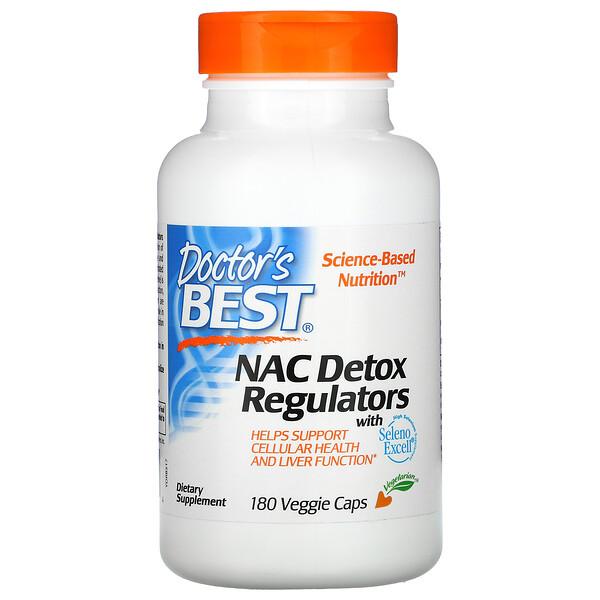 NAC Detox Regulators, 180 Cápsulas Vegetais