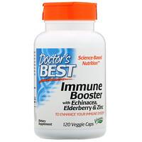 Добавка для укрепления иммунитета с эхинацеей, бузиной и цинком, 120растительных капсул - фото