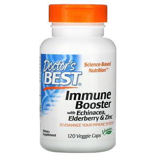 Doctor's Best, Immune Booster with Echinacea, Elderberry & Zinc, 120 Veggie Caps