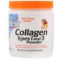 Коллаген типа1 и 3 в порошке, со вкусом персика, 228г - фото