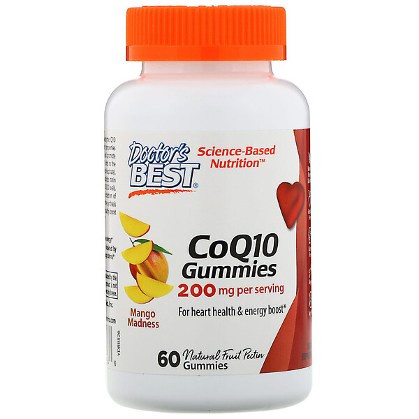 CoQ10 Gummies, Mango Madness, 200 mg, 60 Gummies