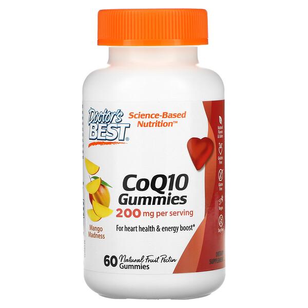 Doctor's Best, CoQ10 Gummies, Mango Madness, 200 mg, 60 Gummies