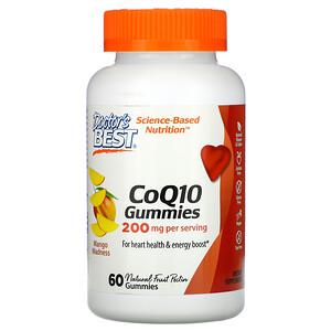 Докторс Бэст, CoQ10 Gummies, Mango Madness, 200 mg, 60 Gummies отзывы