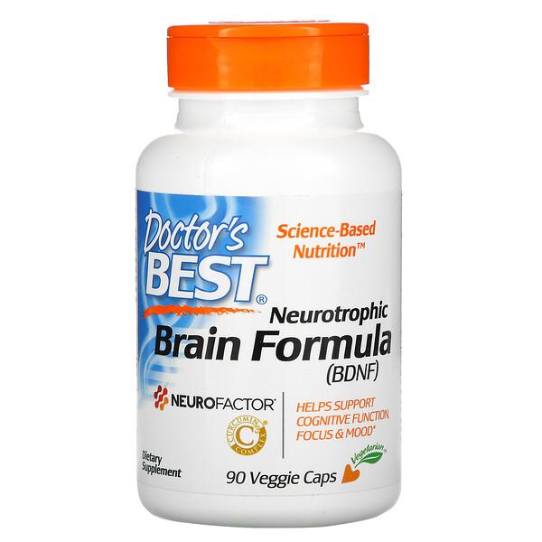 Doctor's Best, Neurotrophic Brain Fomrula, 90 Veggie Caps