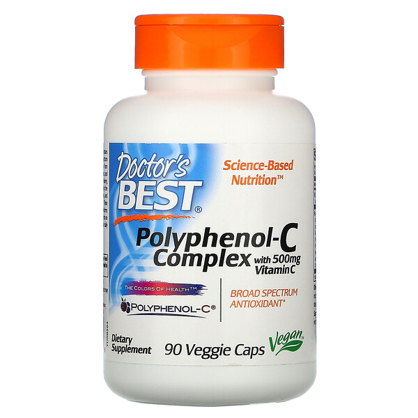 Doctor's Best, Polyphenol-C Complex with Vitamin C, 90 Veggie Caps