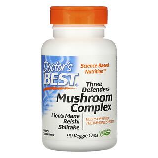 Doctor's Best, Three Defenders Mushroom Complex, 90 Veggie Caps