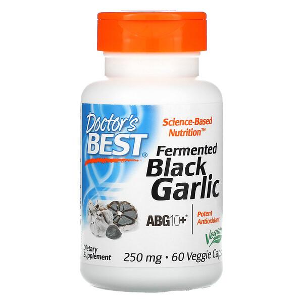 الثوم الأسود المخمرABG10+، بمقدار 250 ملجم، 60 كبسولة نباتية