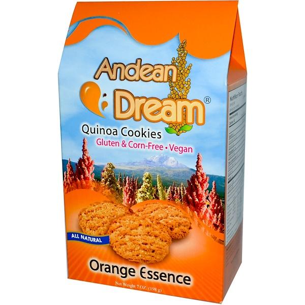 Andean Dream, Quinoa Cookies, Orange Essence, 7 oz (198 g) (Discontinued Item)