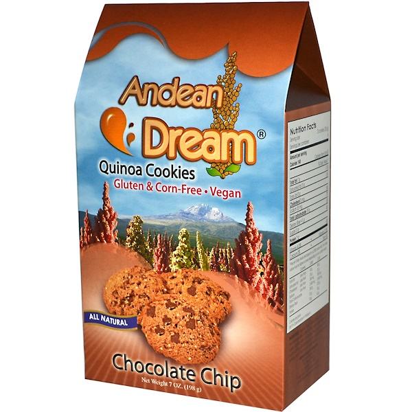Andean Dream, Quinoa Cookies, Chocolate Chip, 7 oz (198 g)