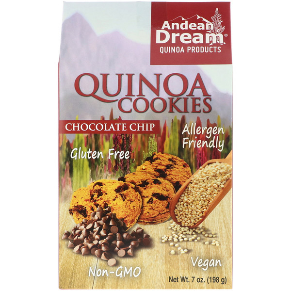 Andean Dream, Quinoa Cookies, Chocolate Chip, 7 oz (198 g) (Discontinued Item)