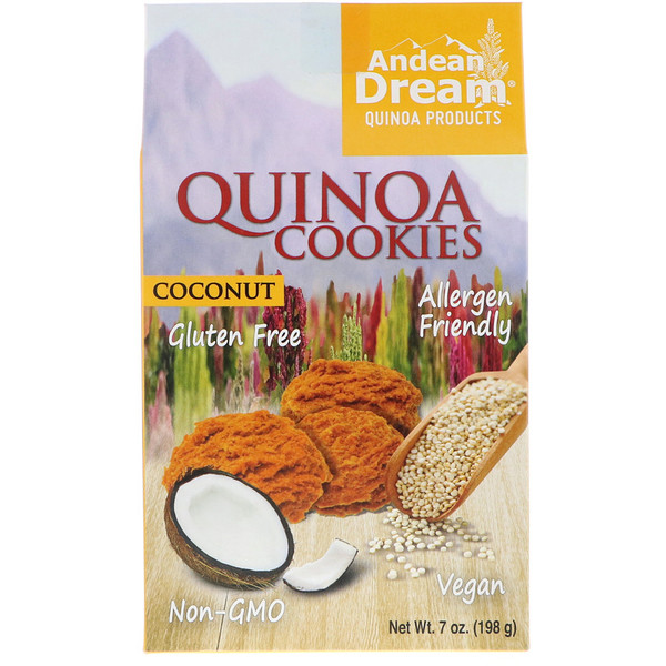 Andean Dream, Quinoa Cookies, Coconut, 7 oz (198 g) (Discontinued Item)