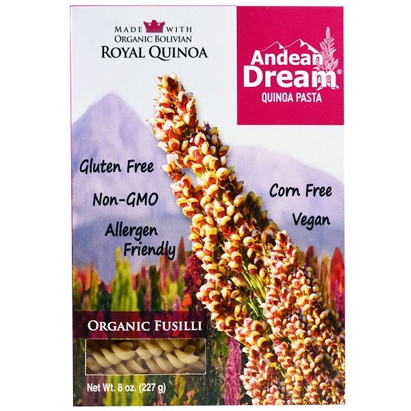 Andean Dream, Pâtes de quinoa, Fusilli bio, 8 oz (227 g) (Discontinued Item)