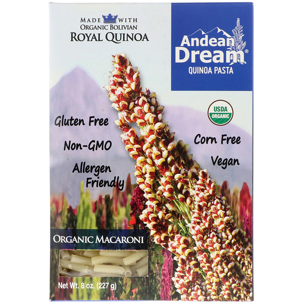 Andean Dream, Quinoa Pasta, Organic Macaroni, 8 oz (227 g) (Discontinued Item)