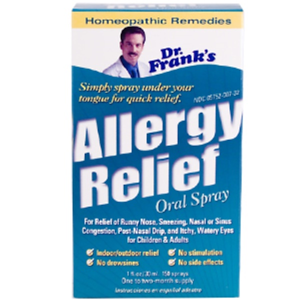Dr. Frank's, Allergy Relief, Oral Spray, 1 fl oz (30 ml) (Discontinued Item)