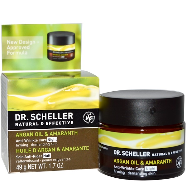 Dr. Scheller, Anti-Wrinkle Care, Night, Argan Oil & Amaranth, 1.7 oz (49 g) (Discontinued Item)