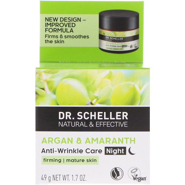 Dr. Scheller, Anti-Wrinkle Care, Night, Argan & Amaranth, 1.7 oz (49 g)