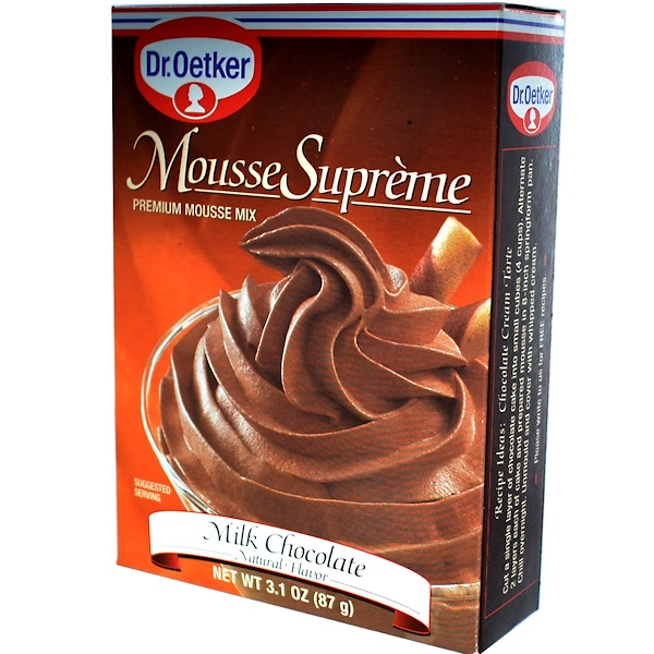 European Gourmet Bakery, Mousse, Milk Chocolate Flavor, 3.1 oz (87 g) (Discontinued Item)
