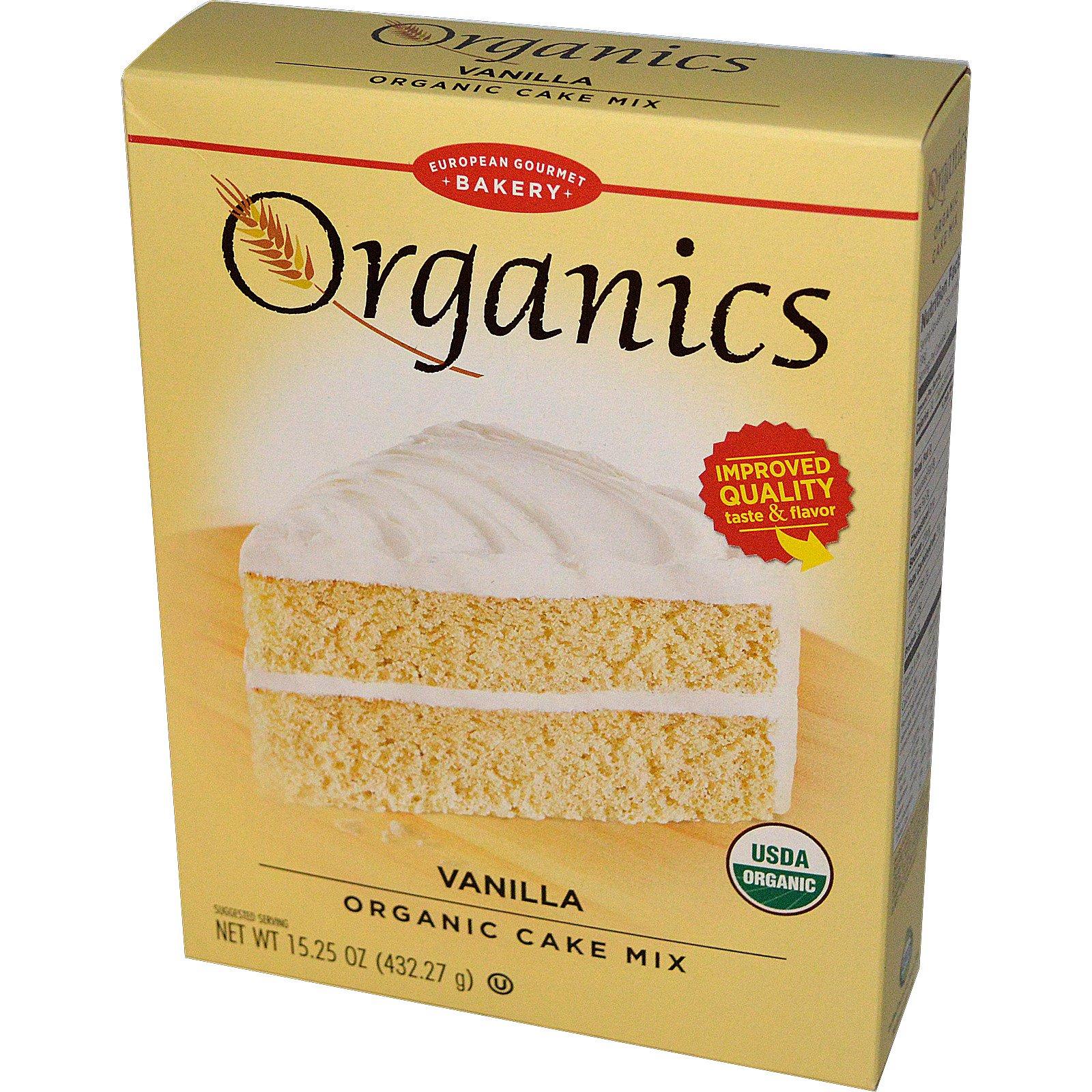 European Gourmet Bakery, Organics, Органическая Смесь для Ванильного Пирога 15.25 унции (432.27 г)