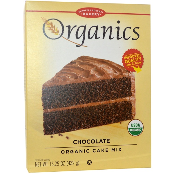 European Gourmet Bakery, Organics, Cake Mix, Chocolate, 15.25 oz (432 g) (Discontinued Item)