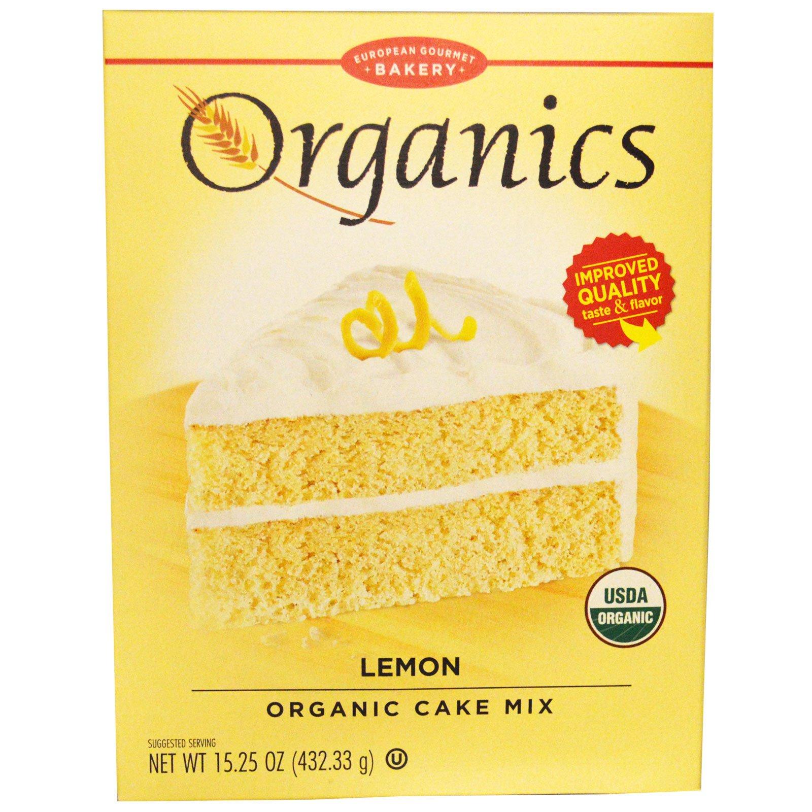 European Gourmet Bakery, Органическая смесь для торта, лимон 15.25 унции (432.33 г)