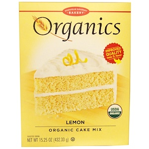 Юропеан Гурмэ Бейкари, Organics, Cake Mix, Lemon, 15.25 oz (432.33 g) отзывы